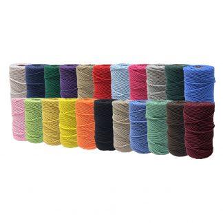Bomullssnöre - en mängd olika färger.
