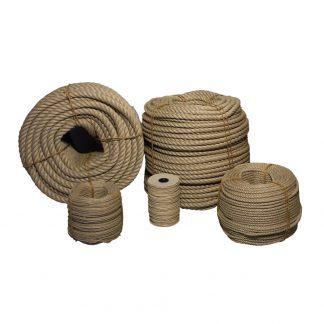 Hampa - slagen i olika storlekar på coil och rulle.